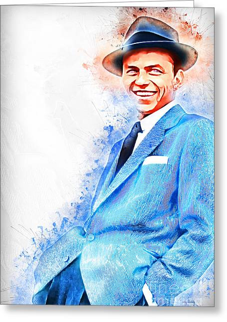 Frank Sinatra Old Blue Eyes 20161101 Greeting Card by Wingsdomain Art and Photography