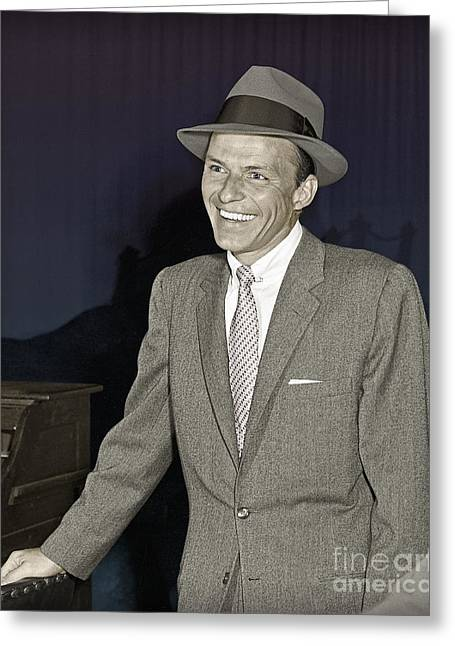 Frank Sinatra On Set Greeting Card