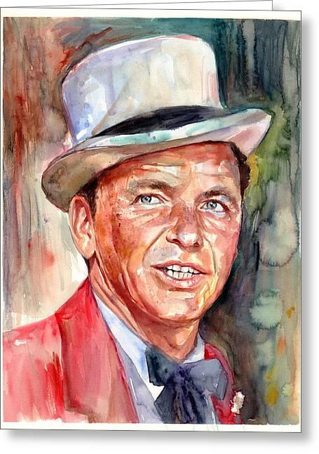 Frank Sinatra Portrait Greeting Card