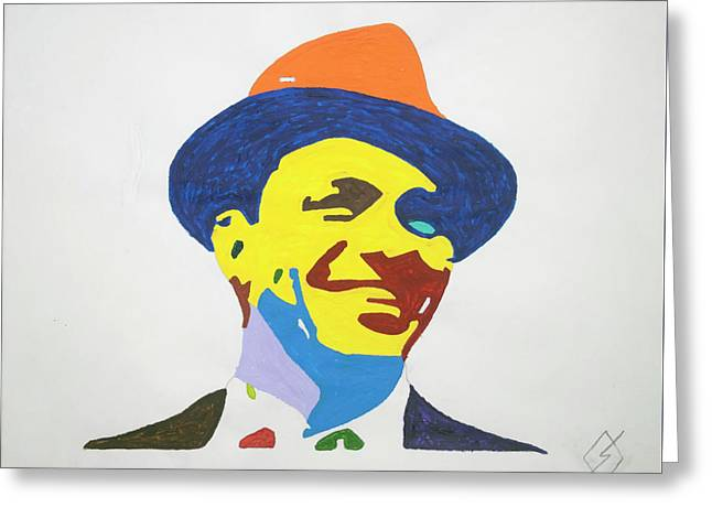 Frank Sinatra Smile Greeting Card by Stormm Bradshaw
