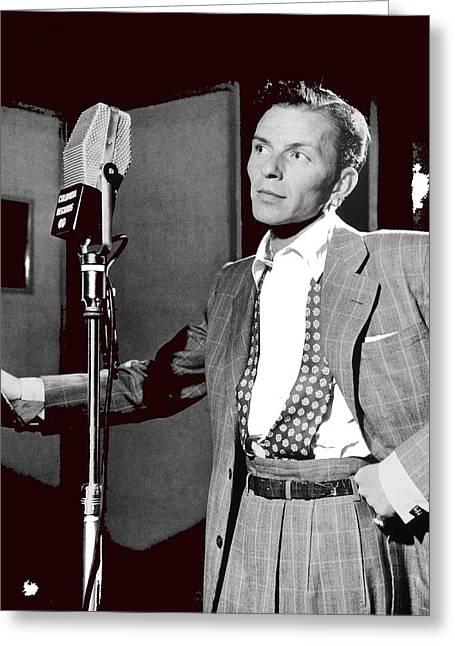 Frank Sinatra William Gottlieb Photo Liederkranz Hall New York City 1947-2015 Greeting Card
