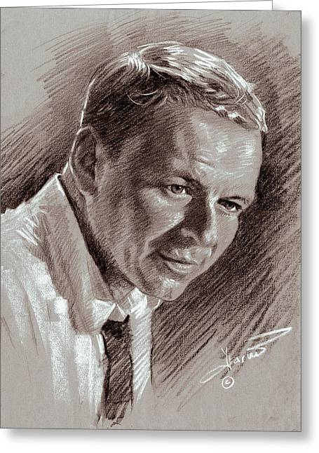 Franks Greeting Cards - Frank Sinatra  Greeting Card by Ylli Haruni