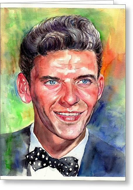 Frank Sinatra Young Watercolor Greeting Card