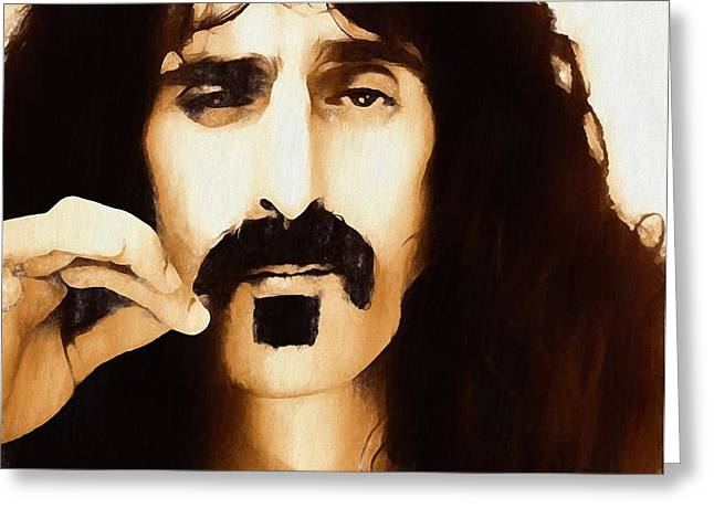 Frank Zappa Greeting Card by Dan Sproul