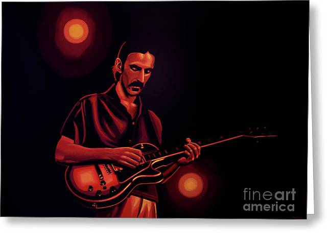 Frank Zappa 2 Greeting Card by Paul Meijering