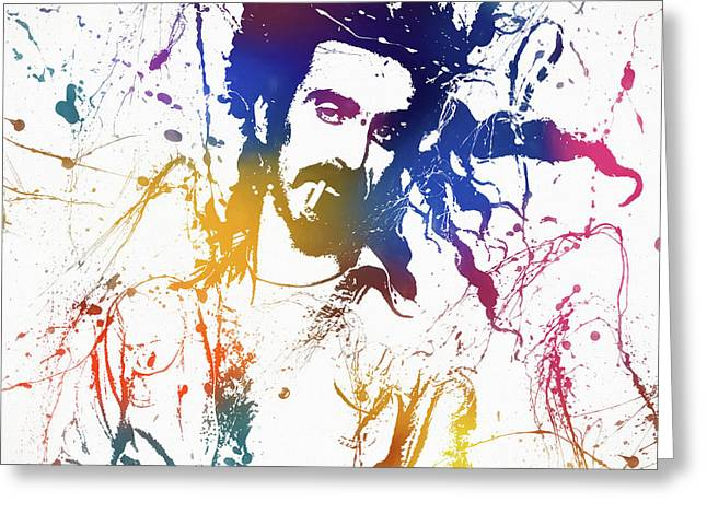 Frank Zappa Splatter Greeting Card
