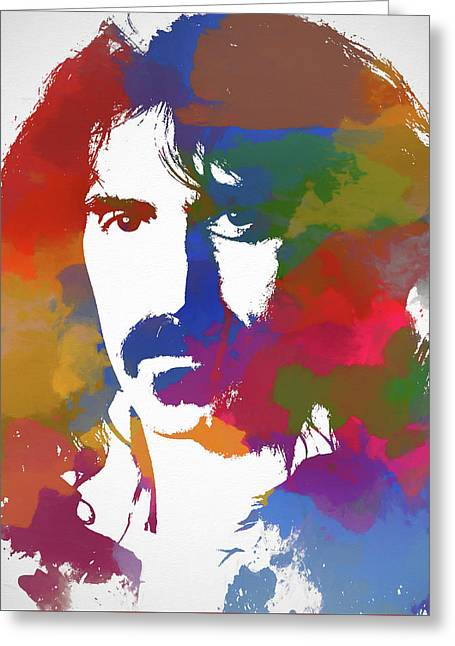 Frank Zappa Watercolor Greeting Card