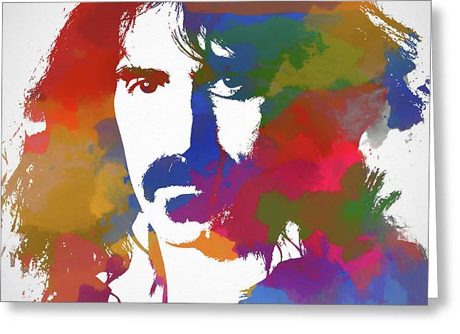 Frank Zappa Watercolor Greeting Card