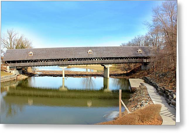 Frankenmuth Covered Bridge Greeting Card by Design Turnpike