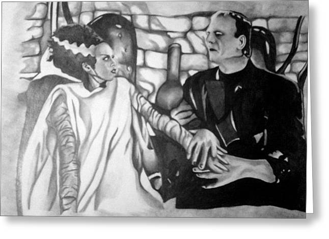 Frankenstein And His Bride Greeting Card