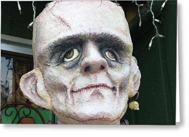 Frankenstein Greeting Card by Art Block Collections