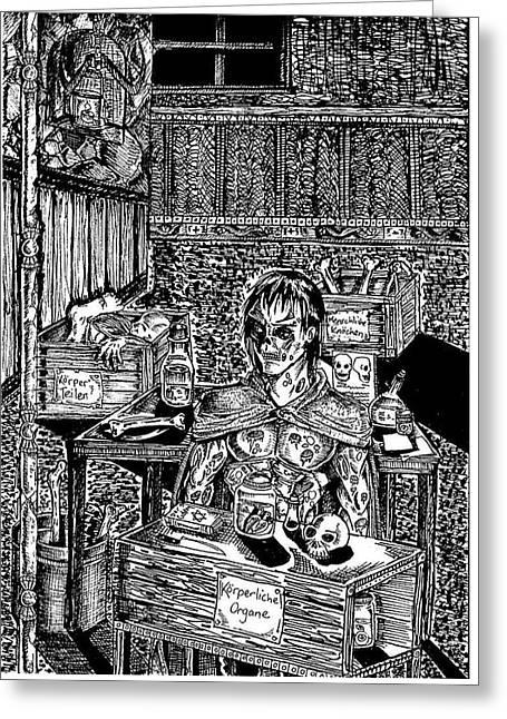 Frankenstein Greeting Card by Jeff Martinez