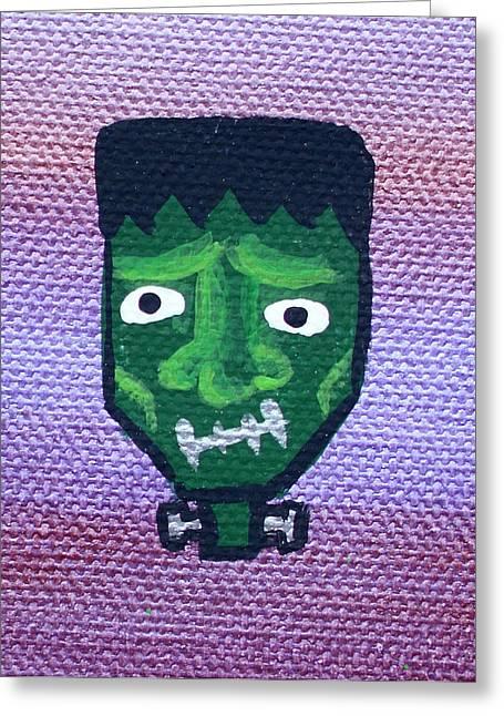 Frankenstein Greeting Card by Jera Sky