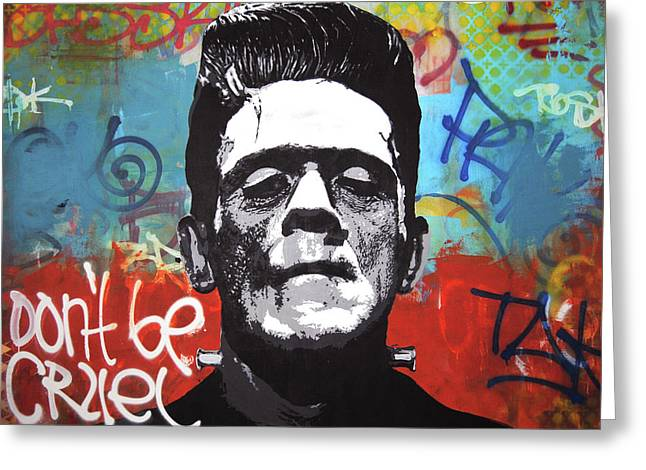 Frankenstein Rebel Greeting Card by Mike Patino