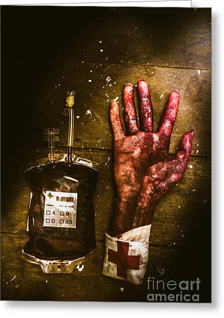 Frankenstein Transplant Experiment Greeting Card by Jorgo Photography - Wall Art Gallery