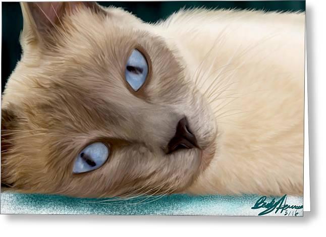Frankie Blue Eyes Greeting Card