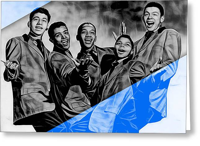 Frankie Lymon And The Teenagers Greeting Card by Marvin Blaine