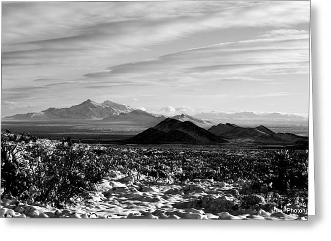 Franklin Mountains Greeting Card