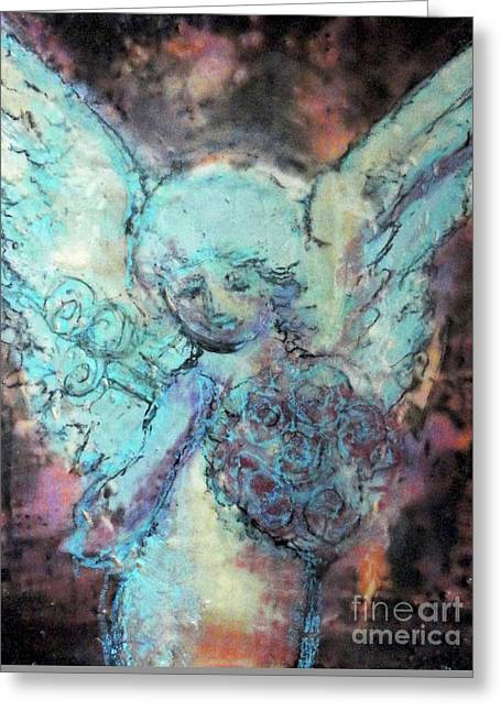 Franklin Angel Greeting Card by Amy Stielstra