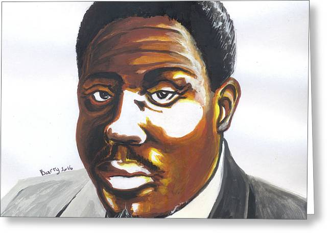 Franklin Boukaka Greeting Card by Emmanuel Baliyanga