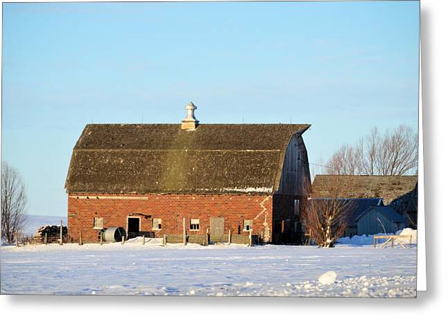 Franklin Brick Greeting Card by Bonfire Photography