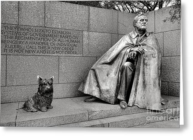 Franklin Delano Roosevelt Sculpture  Greeting Card by Olivier Le Queinec