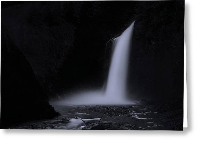 Franklin Falls Black And White 2 Greeting Card by Pelo Blanco Photo