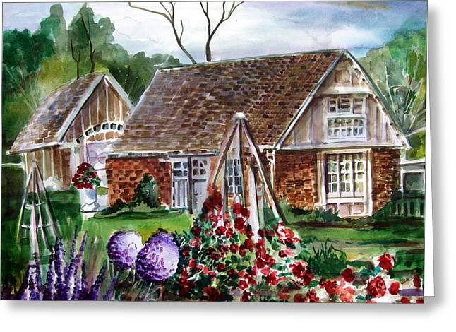 Franklin Park Conservatory Education Pavilon Greeting Card by Mindy Newman