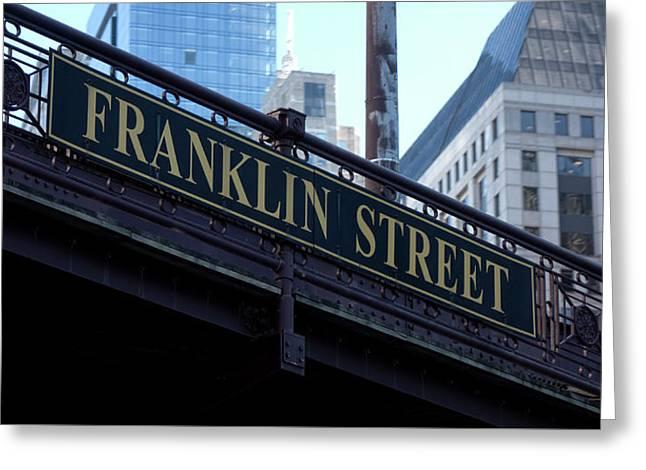 Franklin Street Bridge - Chicago Greeting Card