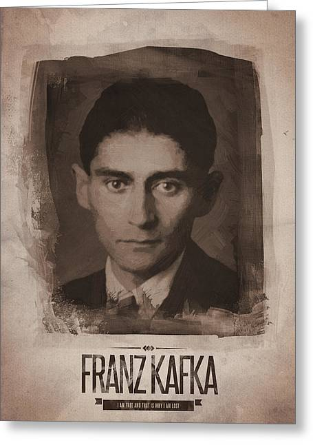 Franz Kafka Greeting Card
