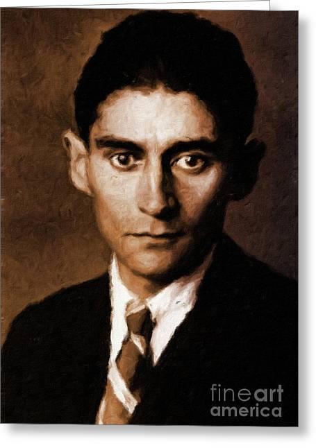 Franz Kafka, Literary Legend By Mary Bassett Greeting Card