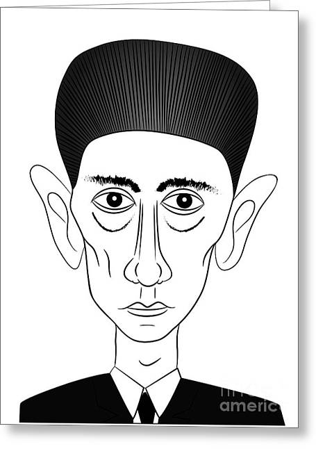 Franz Kafka Greeting Card by Michal Boubin