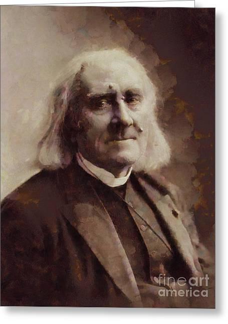 Franz Liszt, Composer By Sarah Kirk Greeting Card