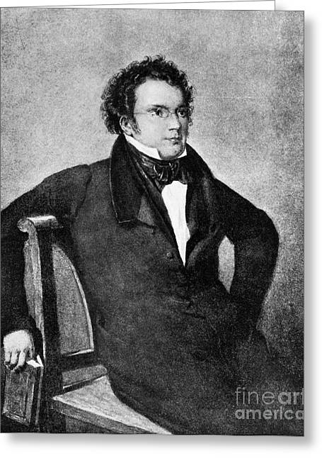 Franz Peter Schubert, Austrian Composer Greeting Card