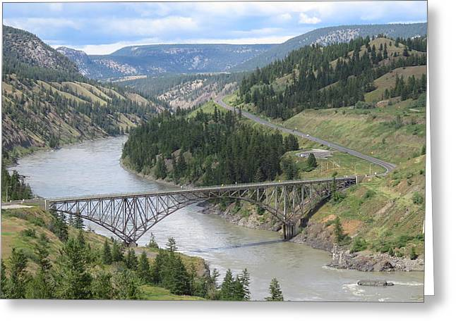 Fraser River Bridge Near Williams Lake Greeting Card
