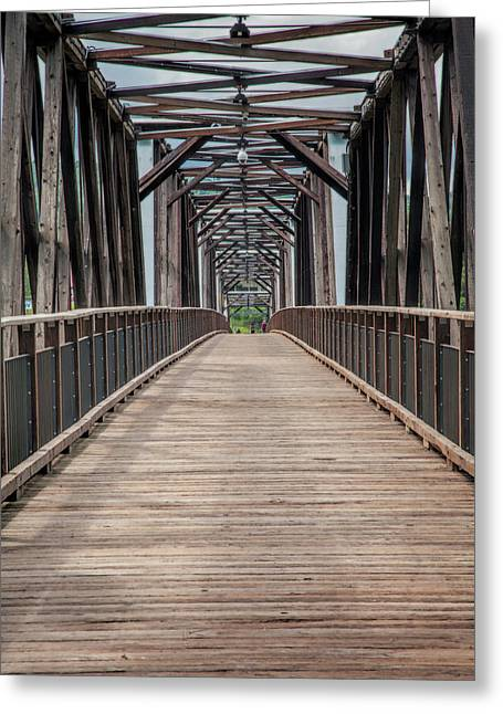 Fraser River Footbridge Greeting Card