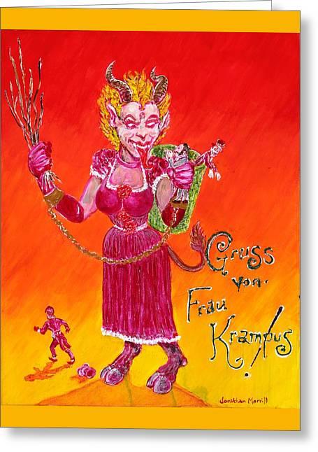 Frau Krampus Greeting Card
