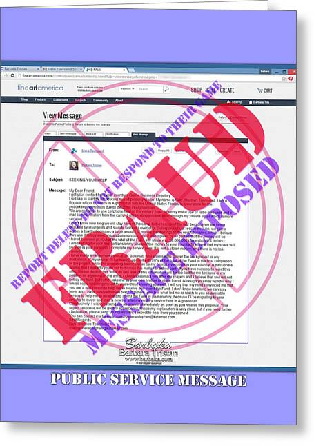 Fraud Email Exposed Greeting Card