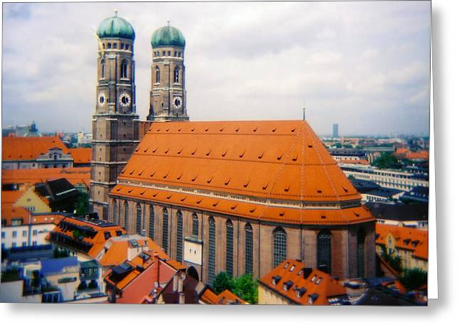 Kevin W. Smith Greeting Cards - Frauenkirche Munich  Greeting Card by Kevin Smith