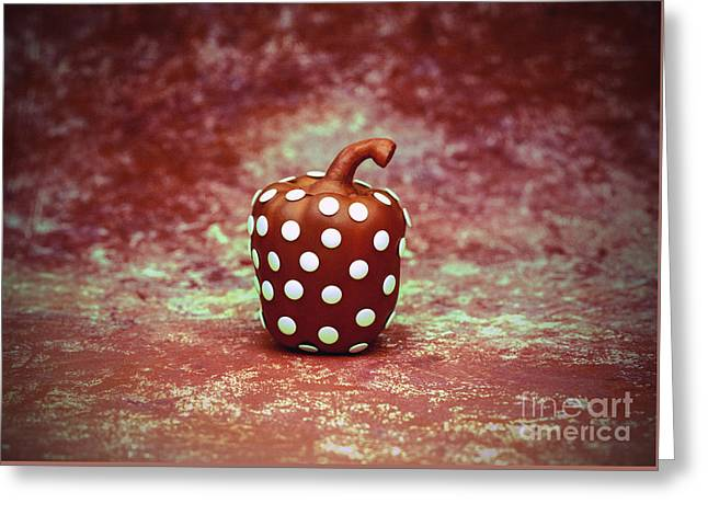 Freckled Bell Pepper Greeting Card