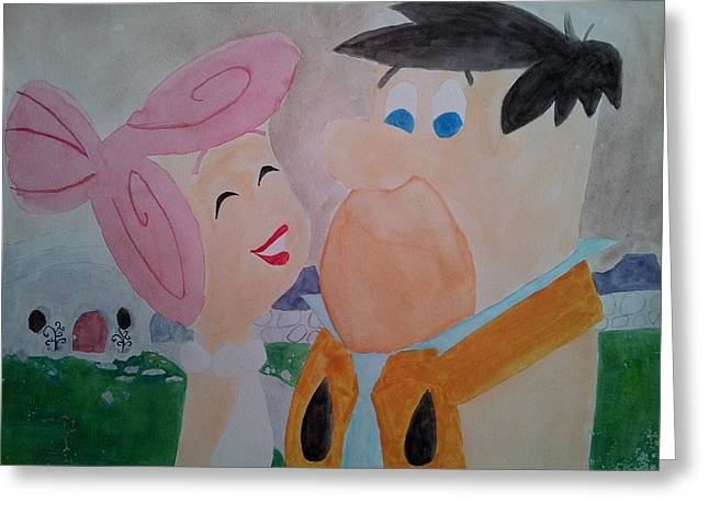 Fred And Wilma Greeting Card