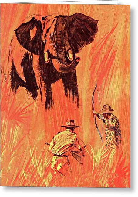 Fred Bear Archery Catalog Cover 1965 Greeting Card by Movie Poster Prints