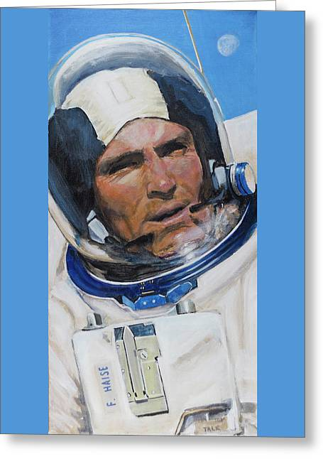Fred Haise Greeting Card by Simon Kregar