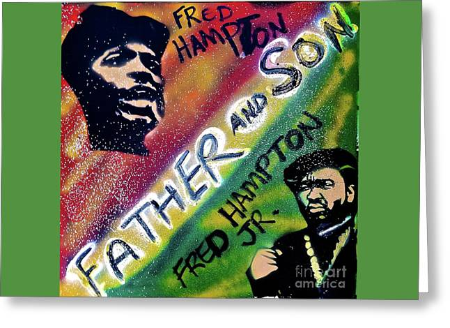 Fred Hampton Father And Son Greeting Card