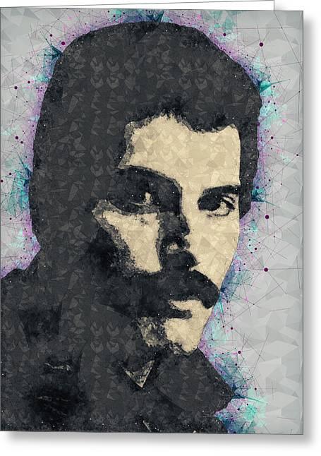 Freddie Mercury Illustration Greeting Card