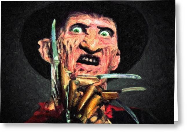 Freddy Krueger Greeting Card by Taylan Apukovska