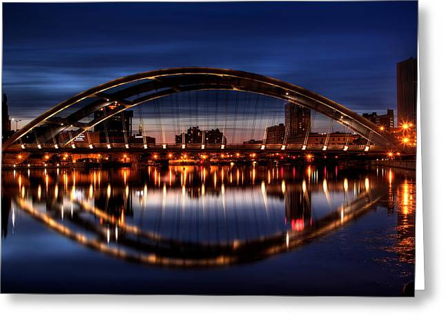 Freddy Sue Bridge Over The Genesee Greeting Card by Don Nieman