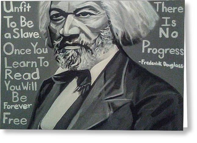 Frederick Douglass Greeting Card by Jason Majiq Holmes