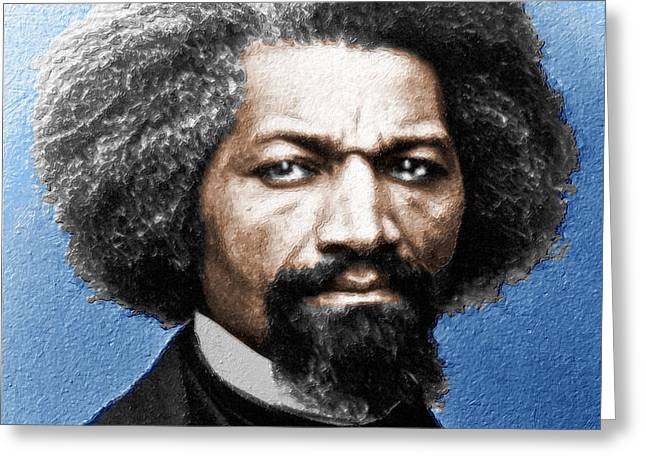 Frederick Douglass Painting In Color  Greeting Card by Tony Rubino