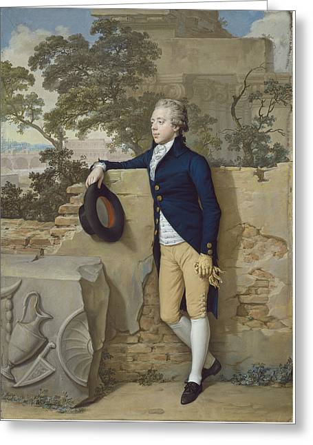 Frederick North - Later Fifth Earl Of Guilford - In Rome Greeting Card by Hugh Douglas Hamilton